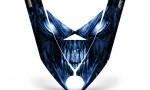 Ski Doo Rev XP Hood CreatorX Graphics Kit Skull Chief Blue 150x90 - Ski-Doo Rev XP Hood Graphics