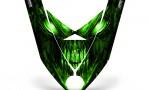 Ski Doo Rev XP Hood CreatorX Graphics Kit Skull Chief Green 150x90 - Ski-Doo Rev XP Hood Graphics