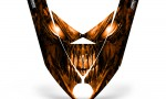 Ski Doo Rev XP Hood CreatorX Graphics Kit Skull Chief Orange 150x90 - Ski-Doo Rev XP Hood Graphics