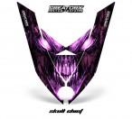 Ski-Doo-Rev-XP-Hood-CreatorX-Graphics-Kit-Skull-Chief-Pink