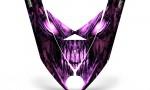 Ski Doo Rev XP Hood CreatorX Graphics Kit Skull Chief Pink 150x90 - Ski-Doo Rev XP Hood Graphics