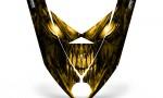 Ski Doo Rev XP Hood CreatorX Graphics Kit Skull Chief Yellow 150x90 - Ski-Doo Rev XP Hood Graphics