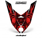 Ski-Doo-Rev-XP-Hood-CreatorX-Graphics-Kit-Skullcified-Flat-Red
