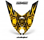 Ski-Doo-Rev-XP-Hood-CreatorX-Graphics-Kit-Skullcified-Flat-Yellow