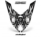 Ski-Doo-Rev-XP-Hood-CreatorX-Graphics-Kit-Skullcified-Silver