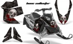 Skidoo REV XP AMR Graphics Kit BLACK BoneCollector 150x90 - Ski-Doo Rev XP Graphics