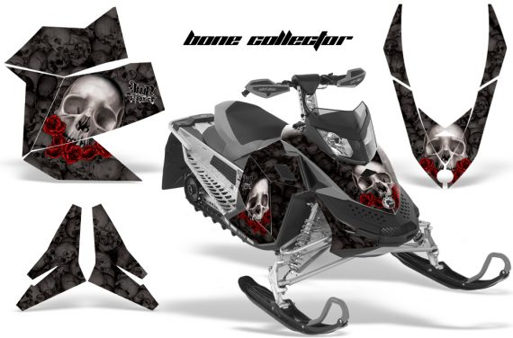 Skidoo REV XP AMR Graphics Kit BLACK BoneCollector 570x376 - Ski-Doo Rev XP Graphics