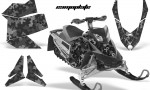Skidoo REV XP AMR Graphics Kit BLACK Camoplate 150x90 - Ski-Doo Rev XP Graphics