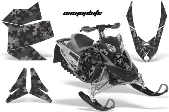 Skidoo REV XP AMR Graphics Kit BLACK Camoplate 570x376 - Ski-Doo Rev XP Graphics
