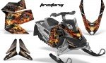 Skidoo REV XP AMR Graphics Kit BLACK Firestorm 150x90 - Ski-Doo Rev XP Graphics