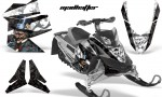Skidoo REV XP AMR Graphics Kit BLACK Madhatter 150x90 - Ski-Doo Rev XP Graphics