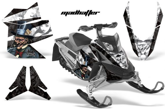 Skidoo REV XP AMR Graphics Kit BLACK Madhatter 570x376 - Ski-Doo Rev XP Graphics