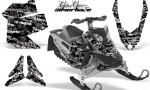 Skidoo REV XP AMR Graphics Kit BLACK Silverhaze 150x90 - Ski-Doo Rev XP Graphics