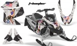 Skidoo REV XP AMR Graphics Kit BLACK Tbomber 150x90 - Ski-Doo Rev XP Graphics