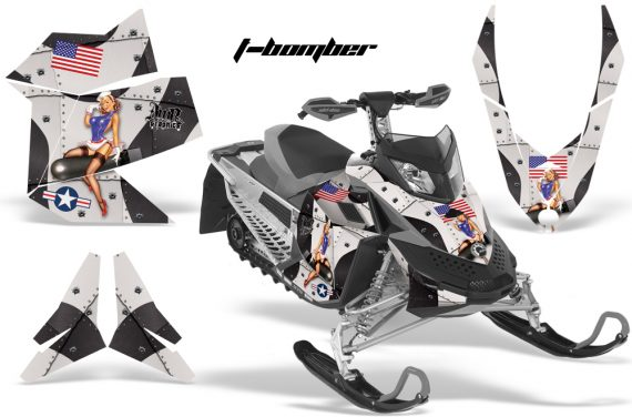 Skidoo REV XP AMR Graphics Kit BLACK Tbomber 570x376 - Ski-Doo Rev XP Graphics