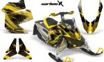 Skidoo REV XP AMR Graphics Kit Skidoo REV XP CarbonX MustardYellow 150x90 - Ski-Doo Rev XP Graphics