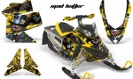 Skidoo REV XP AMR Graphics Kit YELLOW BLACKSTRIPE Madhatter 150x90 - Ski-Doo Rev XP Graphics
