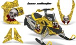 Skidoo REV XP AMR Graphics Kit YELLOW BoneCollector 150x90 - Ski-Doo Rev XP Graphics