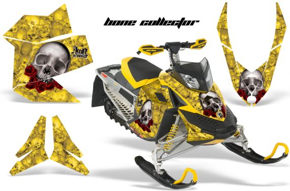 Skidoo REV XP AMR Graphics Kit YELLOW BoneCollector 570x376 - Ski-Doo Rev XP Graphics