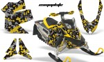 Skidoo REV XP AMR Graphics Kit YELLOW Camoplate 150x90 - Ski-Doo Rev XP Graphics