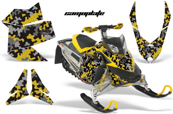 Skidoo REV XP AMR Graphics Kit YELLOW Camoplate 570x376 - Ski-Doo Rev XP Graphics