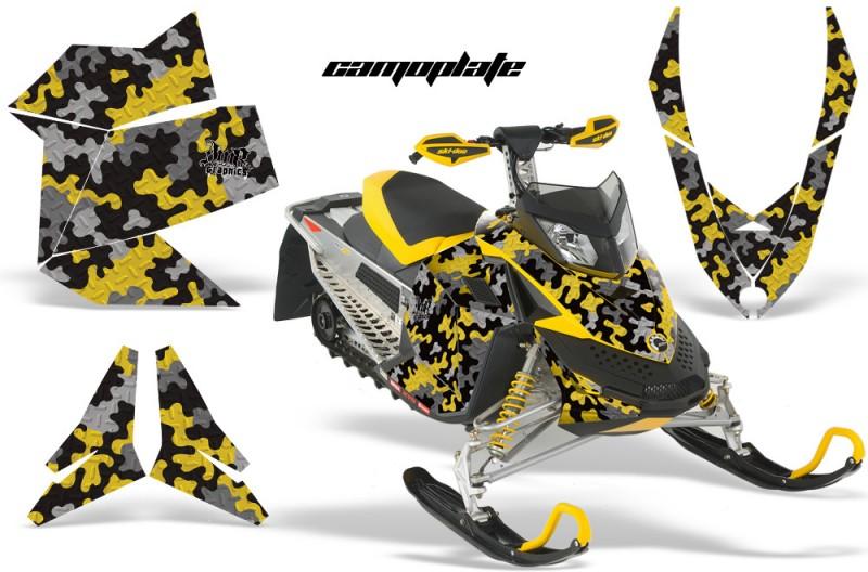 Skidoo-REV-XP-AMR-Graphics-Kit-YELLOW-Camoplate