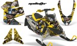 Skidoo REV XP AMR Graphics Kit YELLOW Madhatter 150x90 - Ski-Doo Rev XP Graphics