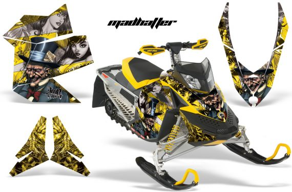 Skidoo REV XP AMR Graphics Kit YELLOW Madhatter 570x376 - Ski-Doo Rev XP Graphics