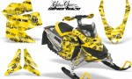 Skidoo REV XP AMR Graphics Kit YELLOW Silverhaze 150x90 - Ski-Doo Rev XP Graphics
