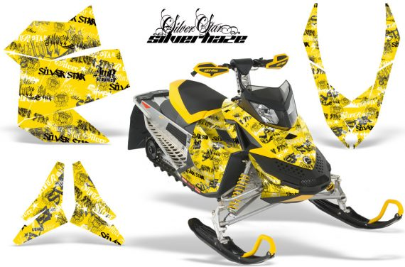 Skidoo REV XP AMR Graphics Kit YELLOW Silverhaze 570x376 - Ski-Doo Rev XP Graphics