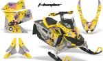 Skidoo REV XP AMR Graphics Kit YELLOW Tbomber 150x90 - Ski-Doo Rev XP Graphics