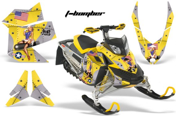 Skidoo REV XP AMR Graphics Kit YELLOW Tbomber 570x376 - Ski-Doo Rev XP Graphics