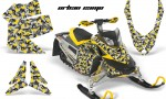 Skidoo REV XP AMR Graphics Kit YELLOW UrbanCamo 150x90 - Ski-Doo Rev XP Graphics