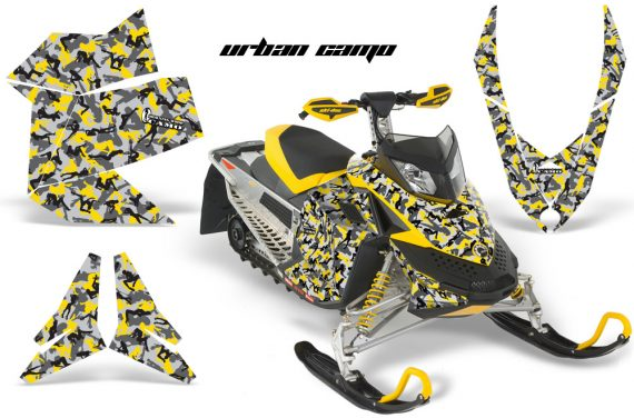 Skidoo REV XP AMR Graphics Kit YELLOW UrbanCamo 570x376 - Ski-Doo Rev XP Graphics
