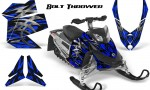 Skidoo REV XP CreatorX Graphics Kit Bolt Thrower Blue 150x90 - Ski-Doo Rev XP Graphics