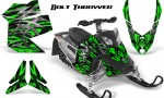 Skidoo REV XP CreatorX Graphics Kit Bolt Thrower Green 150x90 - Ski-Doo Rev XP Graphics