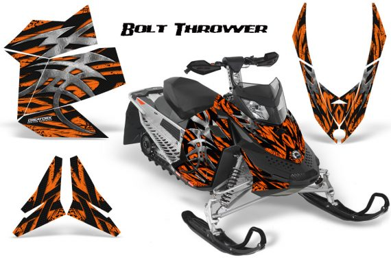 Skidoo REV XP CreatorX Graphics Kit Bolt Thrower Orange 570x376 - Ski-Doo Rev XP Graphics