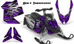 Skidoo REV XP CreatorX Graphics Kit Bolt Thrower Purple 150x90 - Ski-Doo Rev XP Graphics