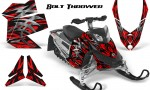 Skidoo REV XP CreatorX Graphics Kit Bolt Thrower Red 150x90 - Ski-Doo Rev XP Graphics