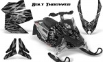 Skidoo REV XP CreatorX Graphics Kit Bolt Thrower Silver 150x90 - Ski-Doo Rev XP Graphics