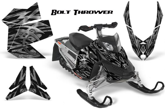 Skidoo REV XP CreatorX Graphics Kit Bolt Thrower Silver 570x376 - Ski-Doo Rev XP Graphics