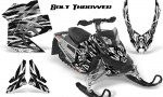 Skidoo REV XP CreatorX Graphics Kit Bolt Thrower White 150x90 - Ski-Doo Rev XP Graphics
