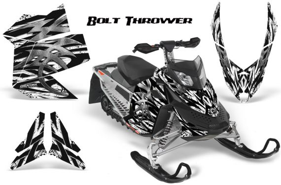 Skidoo REV XP CreatorX Graphics Kit Bolt Thrower White 570x376 - Ski-Doo Rev XP Graphics