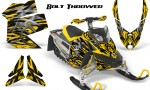 Skidoo REV XP CreatorX Graphics Kit Bolt Thrower Yellow 150x90 - Ski-Doo Rev XP Graphics