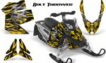 Skidoo REV XP CreatorX Graphics Kit Bolt Thrower Yellow BB 150x90 - Ski-Doo Rev XP Graphics