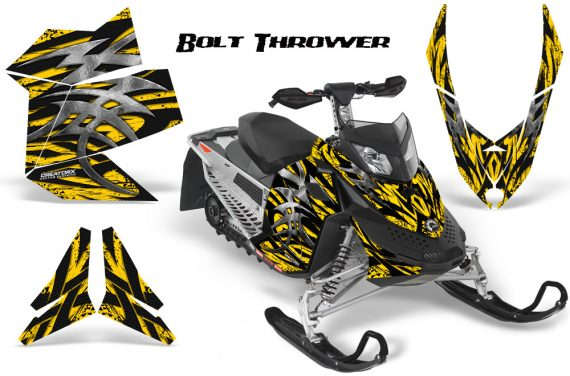 Skidoo REV XP CreatorX Graphics Kit Bolt Thrower Yellow BB 570x376 - Ski-Doo Rev XP Graphics