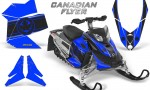 Skidoo REV XP CreatorX Graphics Kit Canadian Flyer Black Blue 150x90 - Ski-Doo Rev XP Graphics