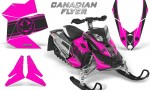 Skidoo REV XP CreatorX Graphics Kit Canadian Flyer Black Pink 150x90 - Ski-Doo Rev XP Graphics