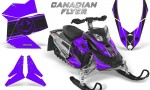 Skidoo REV XP CreatorX Graphics Kit Canadian Flyer Black Purple 150x90 - Ski-Doo Rev XP Graphics