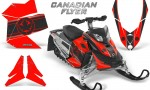 Skidoo REV XP CreatorX Graphics Kit Canadian Flyer Black Red 150x90 - Ski-Doo Rev XP Graphics